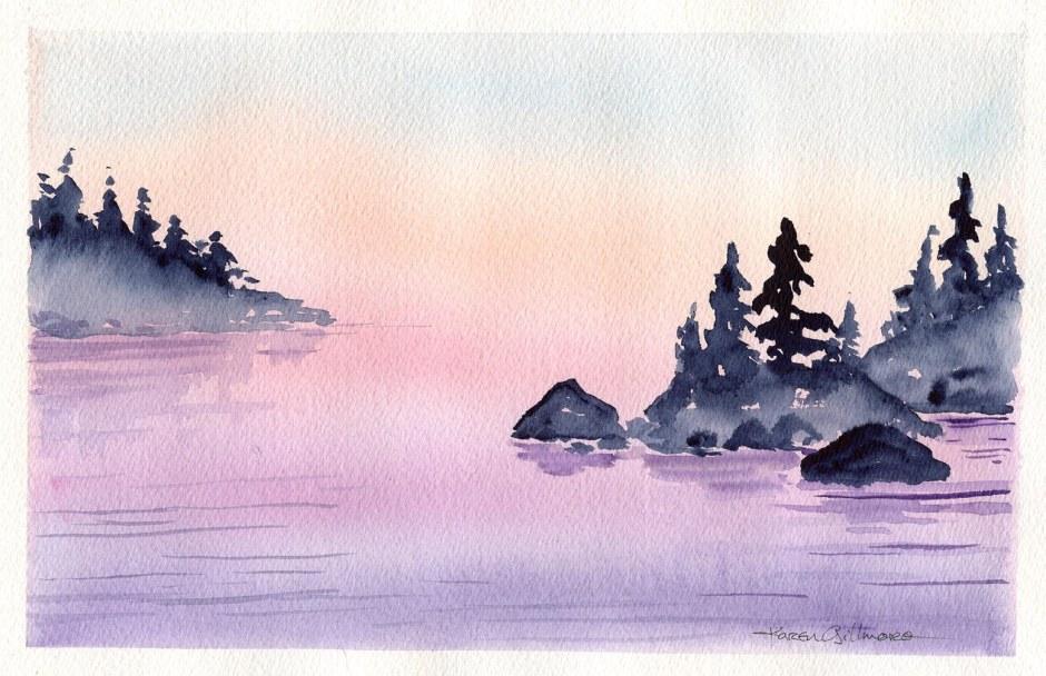 """""""Dawn Fog"""" Watercolour"""