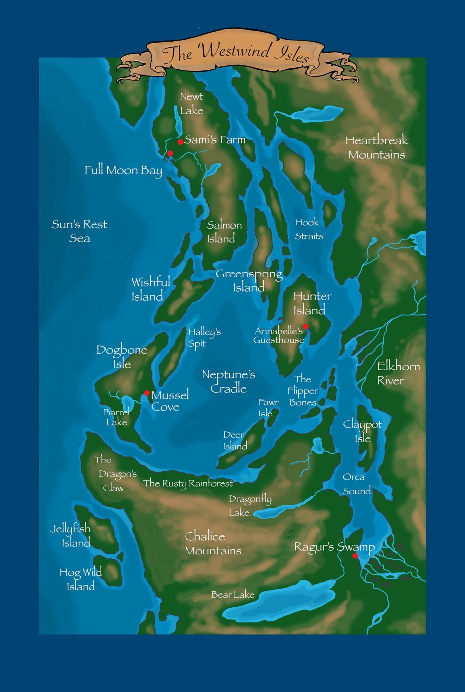 A Map of The Westwind Isles: from the Redwing Archives