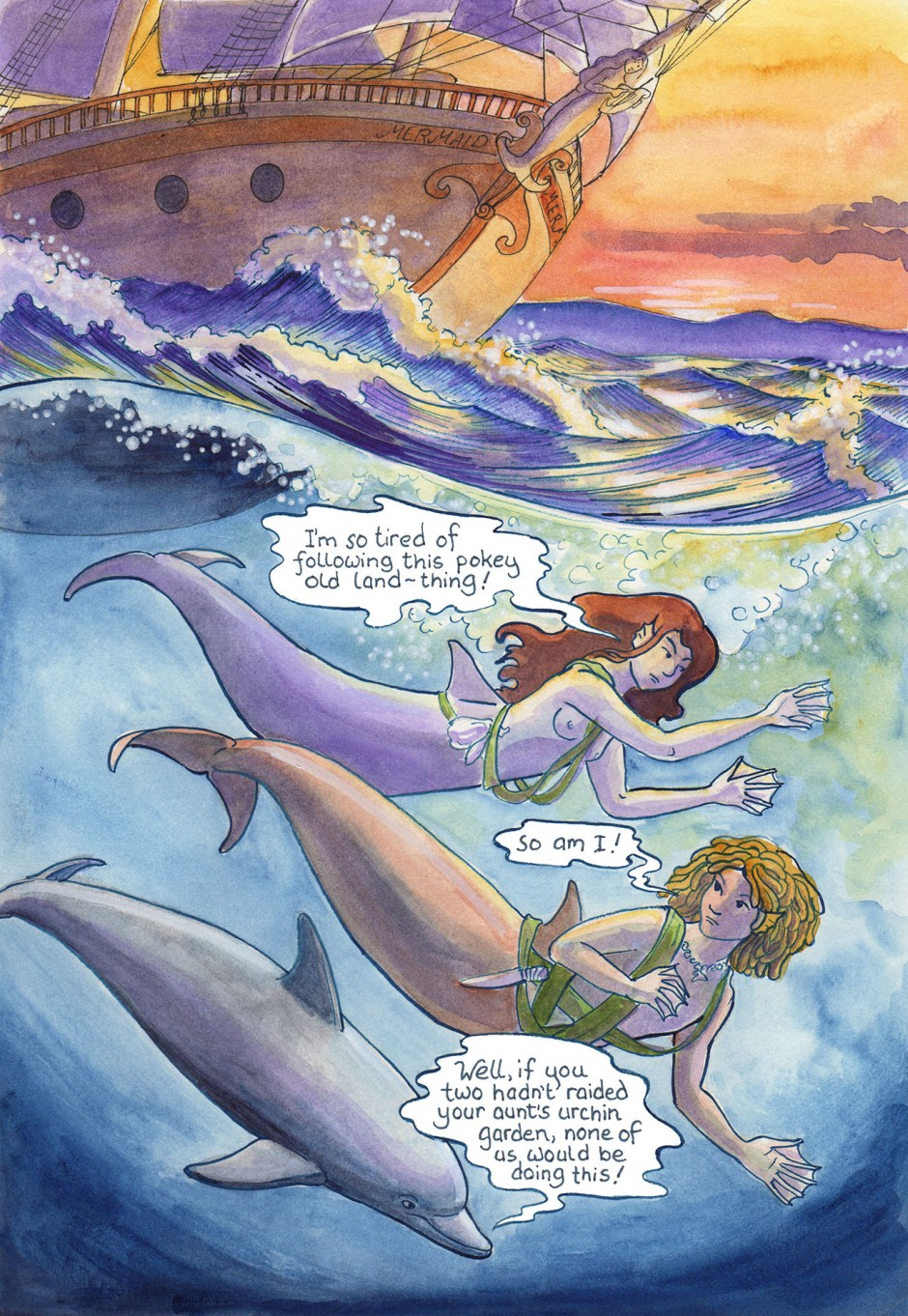 Mermaids at last! Or should I say — mer-folk? It will do until we find out what they call themselves…