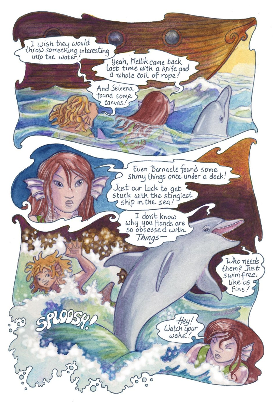 Page 54 — even the lowly job of scavenger has its rewards, if the ship cooperates!