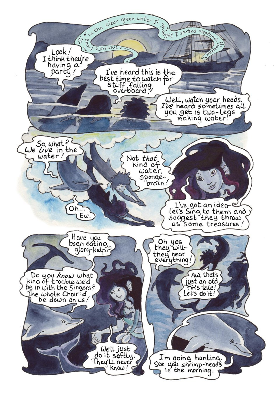 Page 59 — Party-crashers from the sea! But it seems that Fins may be smarter than Hands.