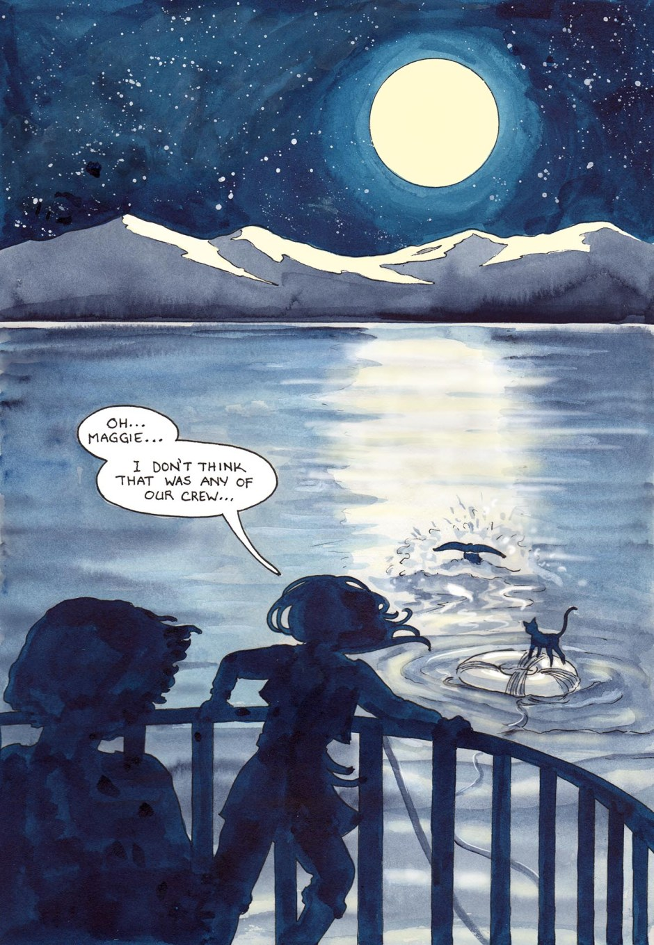 Page 66 — The Curious Case of the Moonlight Swimmer!