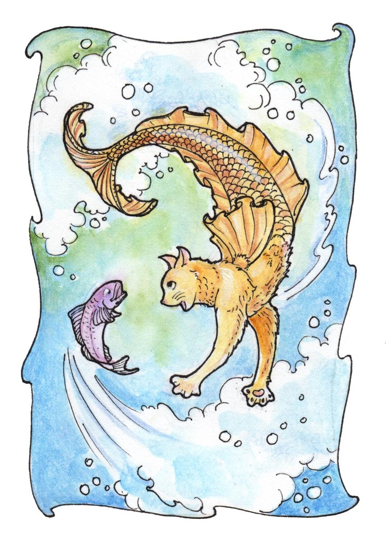 """""""Sometimes you just go around in circles trying to get dinner!"""" — Frills (""""Fishy Frolic"""")"""