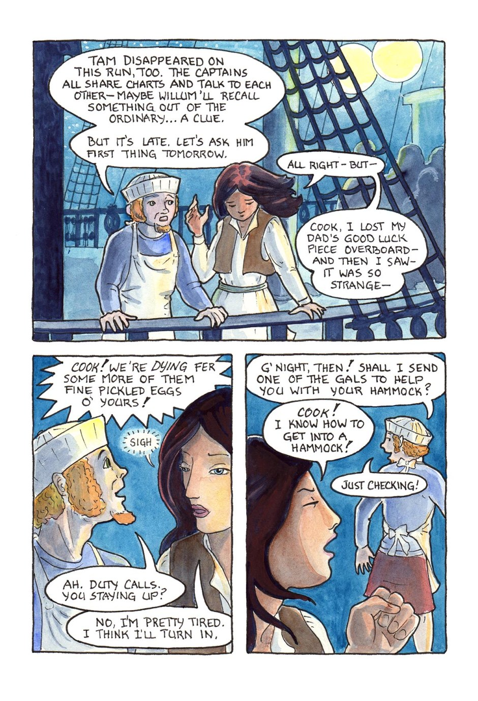 Page 74 — Will Sami ever get to tell what she saw? Will Cook ever be serious? Only time and fate will tell!
